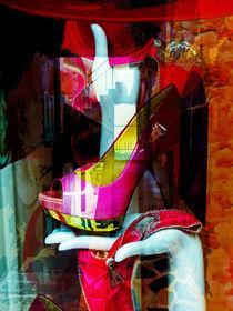 One pink shoe by Gabi Hampe