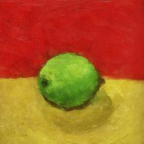 Lime with Red and Gold by Michelle Calkins