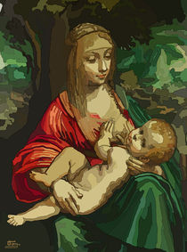 Virgin And Child by Tamy Moldavsky