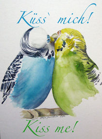 Malen-am-meer-wellensittiche-voegel-aquarell-text