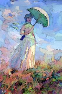 Lady with umbrella von Tamy Moldavsky