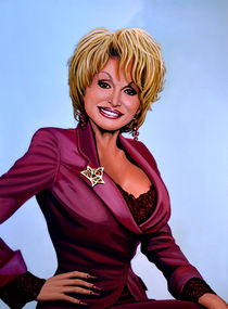 Dolly Parton painting  von Paul Meijering