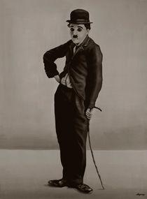 Charlie Chaplin painting by Paul Meijering