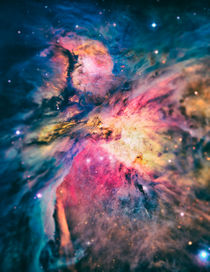 The awesome beauty of the Orion Nebula  by badbugsart