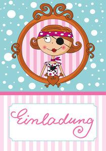 Einldung Pink Pirates® - Piratin Lotta von Gosia Kollek