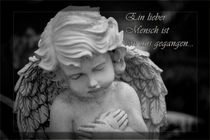 Ein lieber Mensch ist von uns gegangen Gedenkkarte / Grußkarte / Trauerkarte by Dennis Stracke