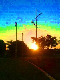 Por-do-sol em aquarela by lola gomes