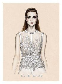 Elie Saab SS2014 illustration by Tania Santos