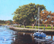 Painting-sailing-boats-and-yachts-on-the-river-stour-christchurch