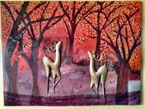 Roehrende Hirsche by Kirsten Aust