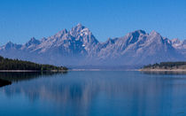 Teton Peaks -- Digital Art by John Bailey