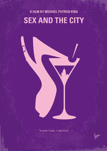 No308 My Sex and the City minimal movie poster von chungkong