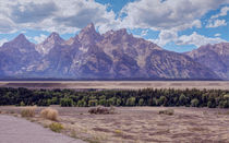 Grand Teton -- Digital Art by John Bailey