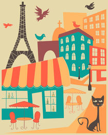 PARIS CAFE by Jazzberry  Blue