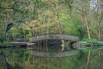 Footbridge Reflections by David Tinsley