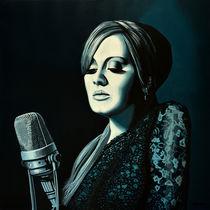 Adele Skyfall painting by Paul Meijering