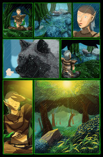 A Última Fábula comic page by Glauber Lopes