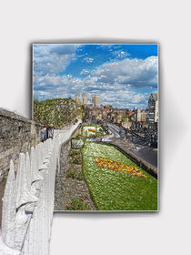 York from the city wall by Robert Gipson