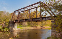 Old Southern Railroad Trestle Bridge On The Valley River von John Bailey