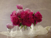 peonies and roses by Franziska Rullert