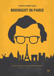 No312 My Midnight in Paris minimal movie poster von chungkong