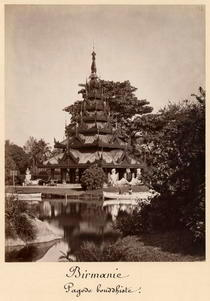 Buddhist rest house, Moulmein, Burma, c1875 by Bridgeman Art
