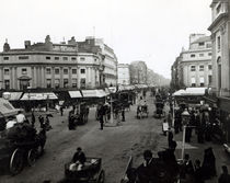 View down Oxford Street, London, c1890 by Bridgeman Art