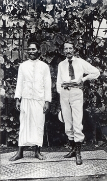 Robert Louis Stevenson and Tuimale Aliifono by Bridgeman Art