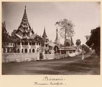 Wayzayanda monastery and pagodas at Moulmein von Bridgeman Art