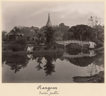 Pavilion in the Cantanement Garden, Rangoon by Bridgeman Art