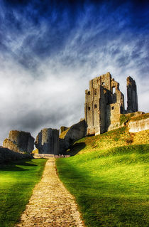 The Castle at Corfe by Vicki Field