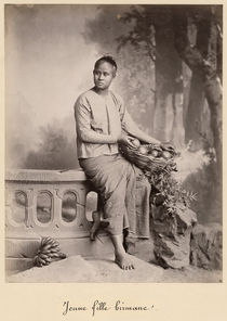 Young Burmese girl, c1880 von Bridgeman Art