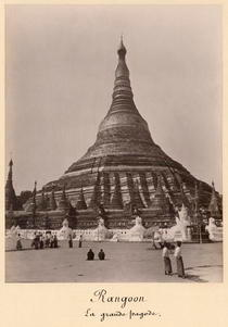 The Shwedagon Pagoda at Rangoon, Burma, c1860 by Bridgeman Art