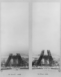 Views of the construction of the Eiffel Tower von Bridgeman Art