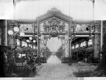 Portico of fabric at the Universal Exhibition 1889 by Bridgeman Art