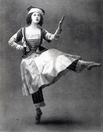 Tamara Karsavina in the ballet `Petrouchka` by Bridgeman Art