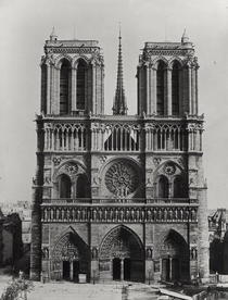 Facade of Notre-Dame, Paris, late 19th century by Bridgeman Art