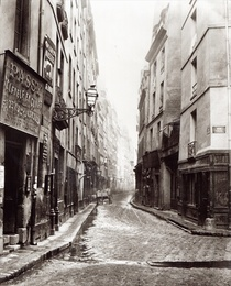 Rue Aumaire, from the Rue Volta, Paris, 1858-78 von Bridgeman Art