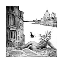 Canale Grande in Venedig by Hans Peylo