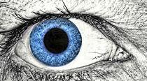 Menschliches Auge, blau von Heike Loos
