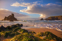 porthcothan beach von photoplace