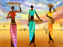 Masai Women Quest For Grains by Bedros Awak