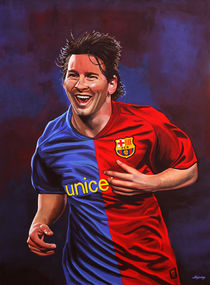 Lionel Messi painting by Paul Meijering