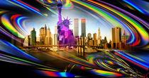 New York  Freiheitsstatue 8 by Walter Zettl