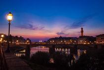 Der Arno und Florenz - Italien by Viktor Peschel