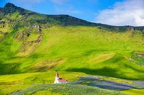 Kirche und Landschaft in Vik Island von Matthias Hauser