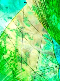 Emerald Sails Abstract  von Rick Todaro
