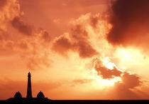 Sonnenuntergang Westerhever von Peter Rohde