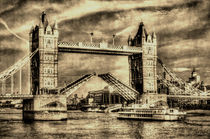 Tower Bridge London Vintage by David Pyatt