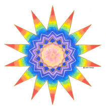 'RAINBOW HEART STAR' by tehaya